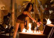 Lisa sets fire to her loft