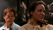 LaGuerta and Dexter on Travis' crime scene.png