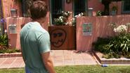 12 Graffiti on Dexter's house S4E3