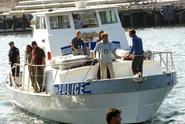 Dexter on police boat