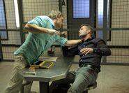 Dexter kills Oliver Saxon with a pen