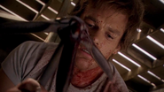 Dexter spattered with Rankin's blood 13