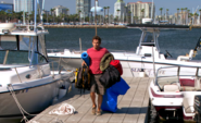 Dexter unloads boat S4E7