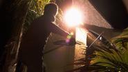 32 Dexter smashes security light S4E3