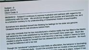 Dr. Vogel's file about Dexter
