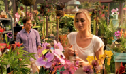 Dexter and Hannah in greenhouse