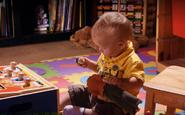 Harrison pulls head off doll S5E3