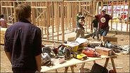 Dexter at Arthur's build site