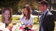 Deba and Quinn at Rita's funeral