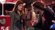 Dexter escapes the fire in Lila's loft