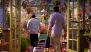 Angel and Dexter in greenhouse