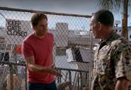 Dexter introduces himself to Estrada under an alias