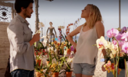 Sal and Hannah at Flower Mart
