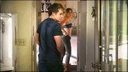 Dexter has sex with Laci, then steals her gun