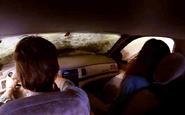 Deb and Dex as car hits water S8E4