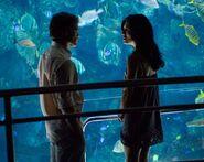 Dexter meets Lila at the aquarium