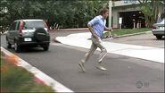 Dexter runs after Arthur into parking garage
