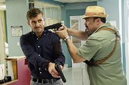 Angel Batista arrests Oliver Saxon
