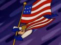 Major Glory with Flag