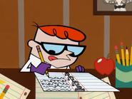 Dexter doing the homework