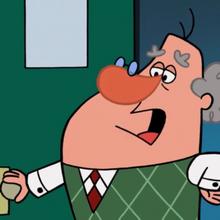 Mr. Luzinsky talking to Dexter