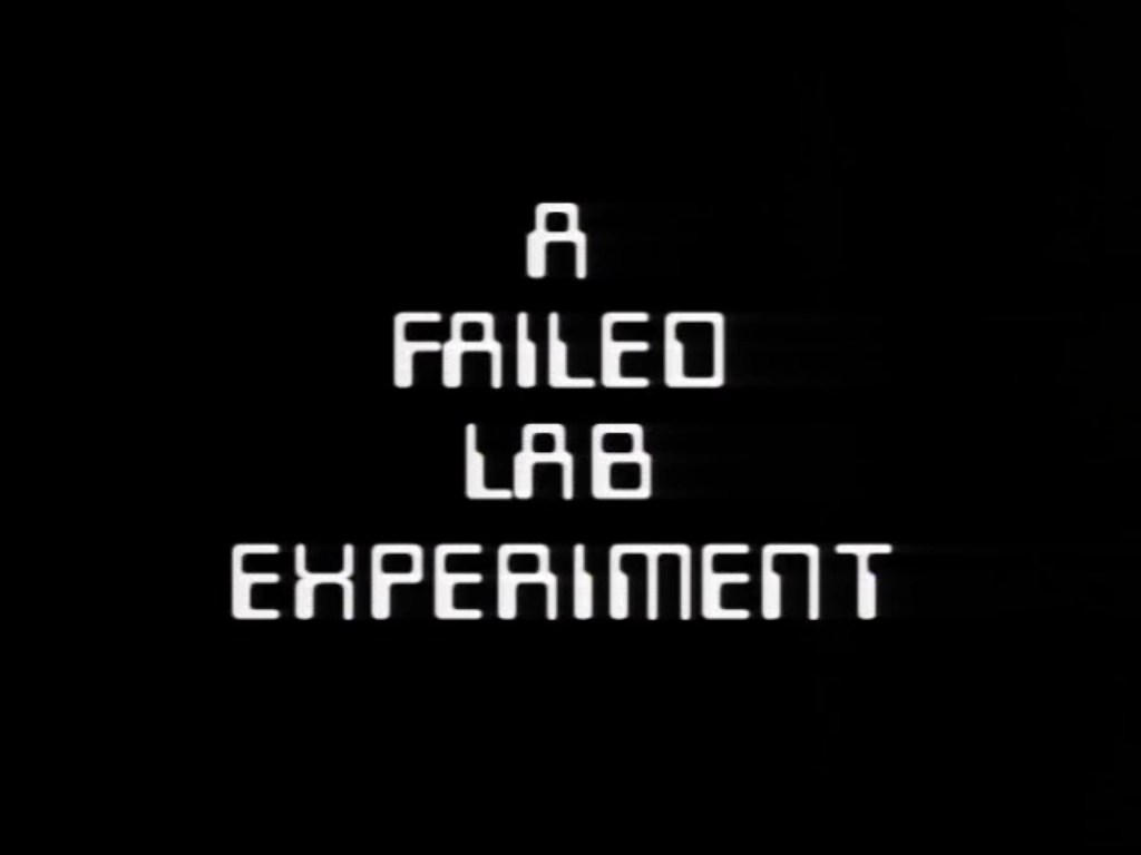 A Failed Lab Experiment