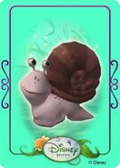 Tinkerbell adventures card - snail