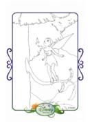 Tinkerbell adventures coloring paper - iridessa