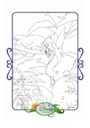 Tinkerbell adventures coloring paper - silvermist