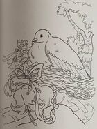 Disney fairies coloring book - mother dove and beck