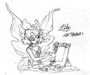 Fairies magazine - sketch by Daniela Vetro - lily