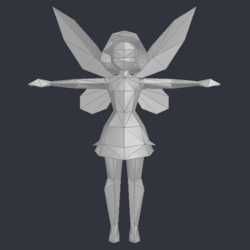 Tinker Bell (DS Game) - Low Poly Model - Qana 2.png