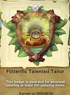 Flitterific Talented Tailor Badge ft. Spider