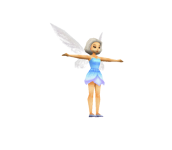 Tinker Bell (Nintendo DS Game) - Low Poly Model - Qana.png
