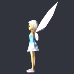 Tinker Bell (DS Game) - Low Poly Model - Qana 3.png