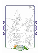 Tinkerbell adventures coloring paper - tinker