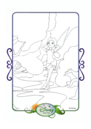 Tinkerbell adventures coloring paper - rosetta
