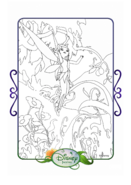 Tinkerbell adventures coloring paper - vidia