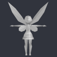 Tinker Bell (DS Game) - Low Poly Model - Qana 6