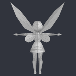 Tinker Bell (DS Game) - Low Poly Model - Qana 6.png