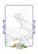 Tinkerbell adventures coloring paper - fawn
