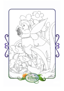 Tinkerbell adventures coloring paper - fairy mary
