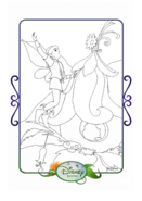 Tinkerbell adventures coloring paper - terence