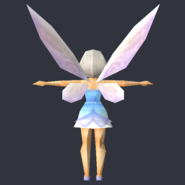 Tinker Bell (DS Game) - Low Poly Model - Qana 5