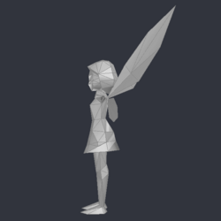 Tinker Bell (DS Game) - Low Poly Model - Qana 4.png