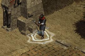 desert mercenary with a Concentration aura