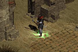 desert mercenary with a Conviction aura