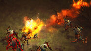 Crusader fiery steed charge