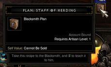 Staff of Herding Plans Close Up