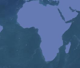 Africa Map Sea